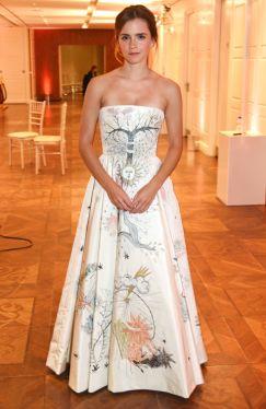 Emma Watson in Christian Dior via Elle