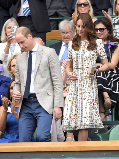 The Duchess of Cambridge at Wimbledon, 2016 via Hello!