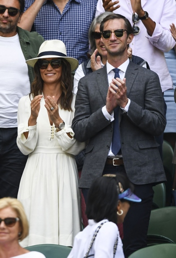 Pippa Middleton at Wimbledon, 2017 via Hello!