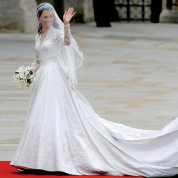 You could draw some comparisons between Kate Middleton and Eugenie's dresses, but overall they looked very different. Via Brides