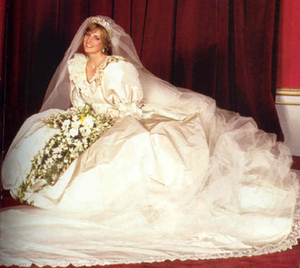 There were no similarities between Eugenie and Diana's dresses. Via Wikipedia