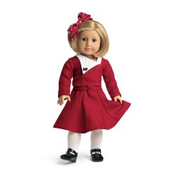 Kit's Christmas outfit. Via American Girl Wiki