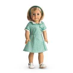 Kit's birthday flour sack dress. Via American Girl Wiki